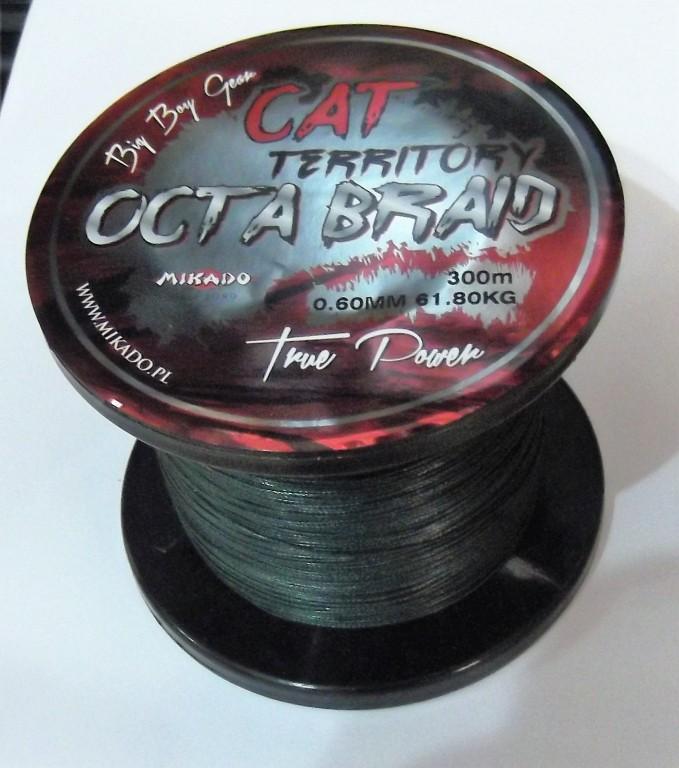 MIKADO Sumcová šnúra - CAT TERRITORY OCTA BRAID - 0.50mm/600m/53.30kg