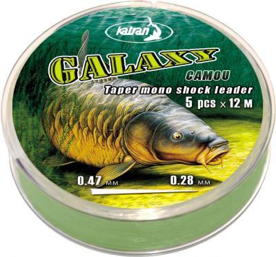KATRAN Šokový vlasec Galaxy Camo - 0.28-0.47mm (5x12m)