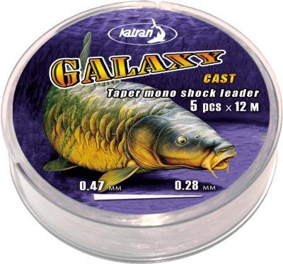 KATRAN Šokový vlasec Galaxy - 0.28-0.47mm (5x12m)