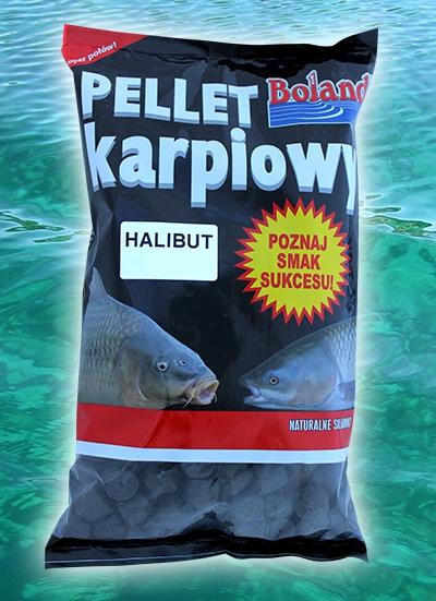 BOLAND Kaprové pelety 1kg, 12mm - BLACK HALIBUT (s dierou)