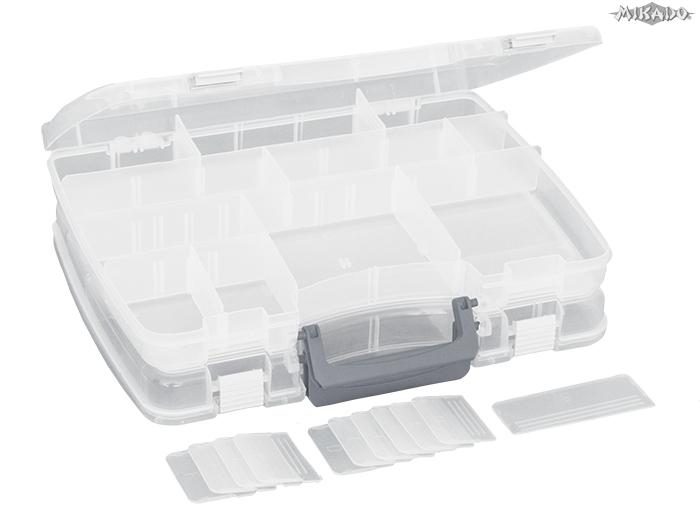 Kombinovaný nástrahový box (27 x 21 x 11 cm) Mikado
