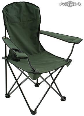 MIKADO Rybárska stolička s opierkami zelená (55x55x43/90cm)
