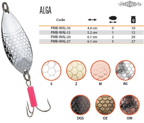 Plandavka ALGA Veľ.1 12g/5.2cm (Strieborná) Mikado