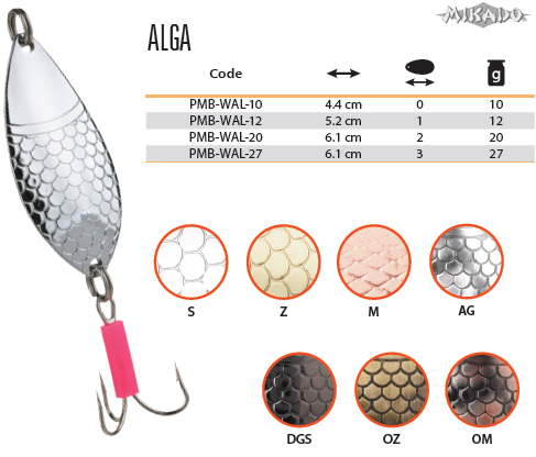 Plandavka ALGA Veľ.2 20g/6.1cm (Strieborná) Mikado