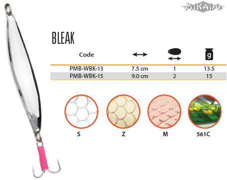 Plandavka BLEAK Veľ.1 13.5g/7.5cm (Zlatá) Mikado