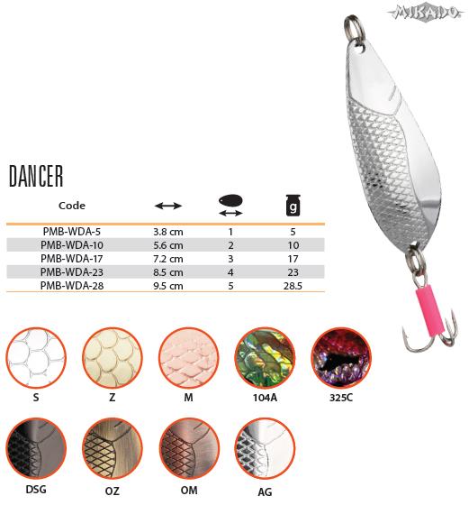 Plandavka DANCER Veľ.1 5g/3.8cm (Zlatá) Mikado