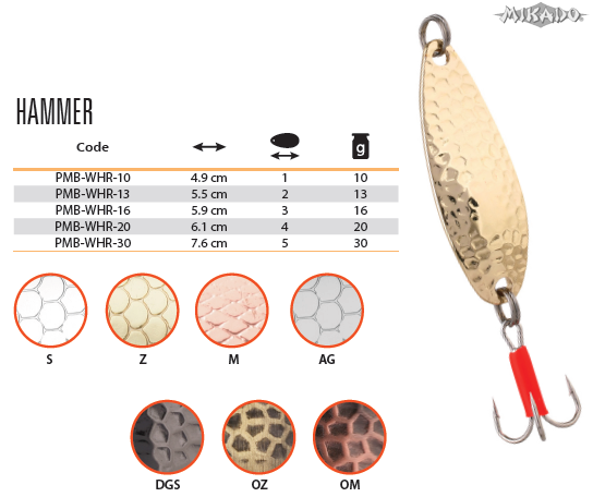 SPOON - HAMMER 10 g - OLD COPPER