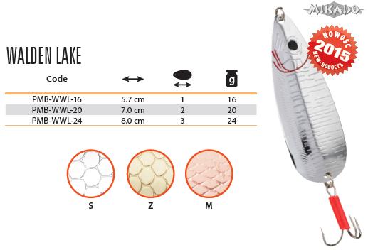 Plandavka WALDEN LAKE Veľ.3 24g/8cm (Zlatá) Mikado