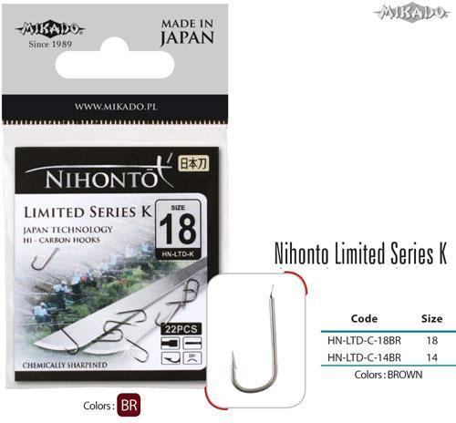 Háčik NIHONTO-LIMITED SERIES K (veľ.14) bal.22ks Mikado