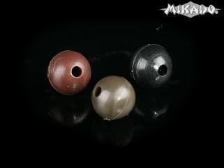 Silikónová korálka (6mm,čierna) bal.25ks Mikado