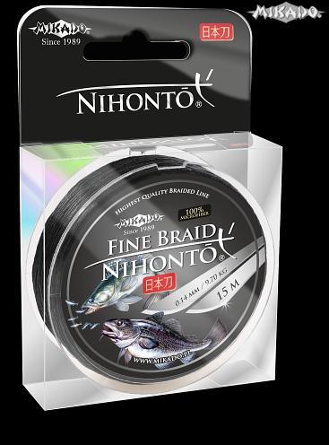 MIKADO Šnúra NIHONTO FINE BRAID - 0.16mm/15m (čierna)