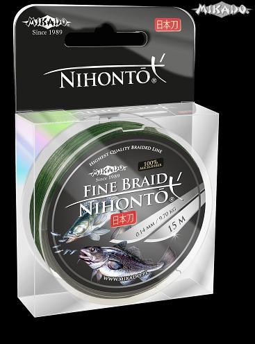 MIKADO Šnúra NIHONTO FINE BRAID - 0.14mm/15m (zelená)