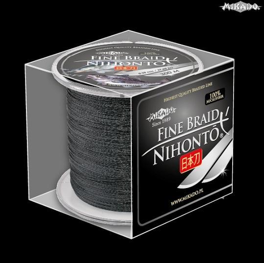 MIKADO Šnúra NIHONTO FINE BRAID - 0.23mm/300m (čierna)