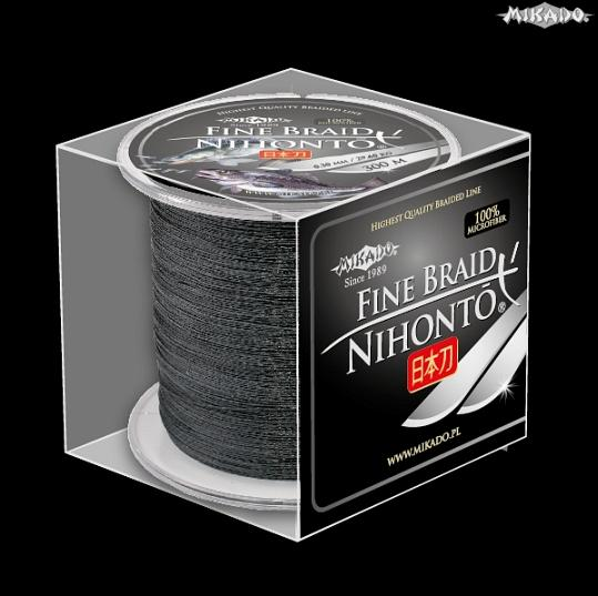 MIKADO Šnúra NIHONTO FINE BRAID - 0.25mm/300m (čierna)