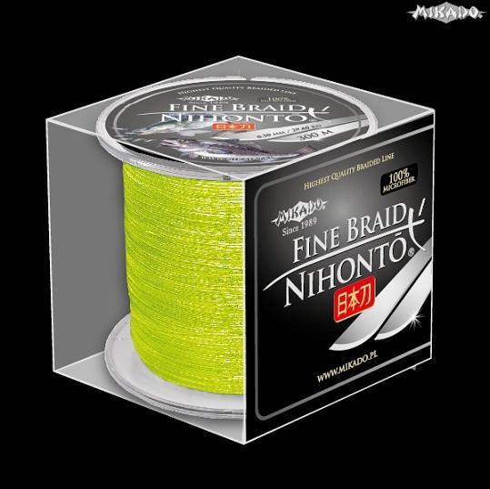 Šnúra NIHONTO FINE BRAID 0.28 žltá 300m Mikado