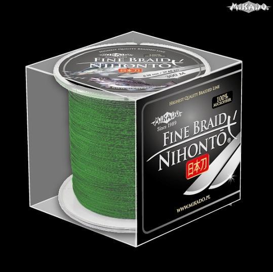 Šnúra NIHONTO FINE BRAID 0.30 zelená 300m Mikado