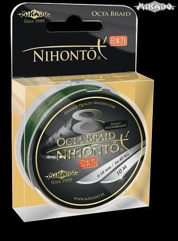 MIKADO Šnúra NIHONTO OCTA BRAID - 0.10mm/10m (zelená)