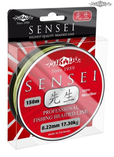 BRAIDED LINE SENSEI 022 GREEN 125M 1 SPOOL