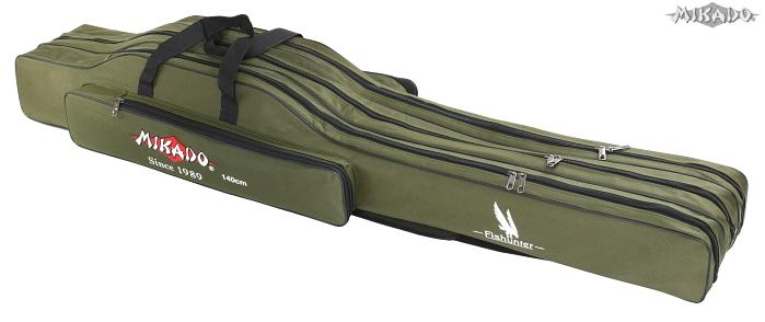 MIKADO Púzdro na prúty 3komorové, 140cm (zelené)