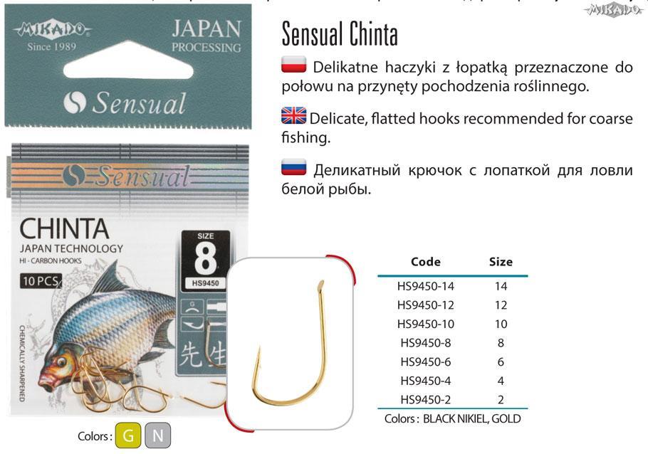 MIKADO Háčik SENSUAL-CHINTA s lopatkou zlatý (10ks)