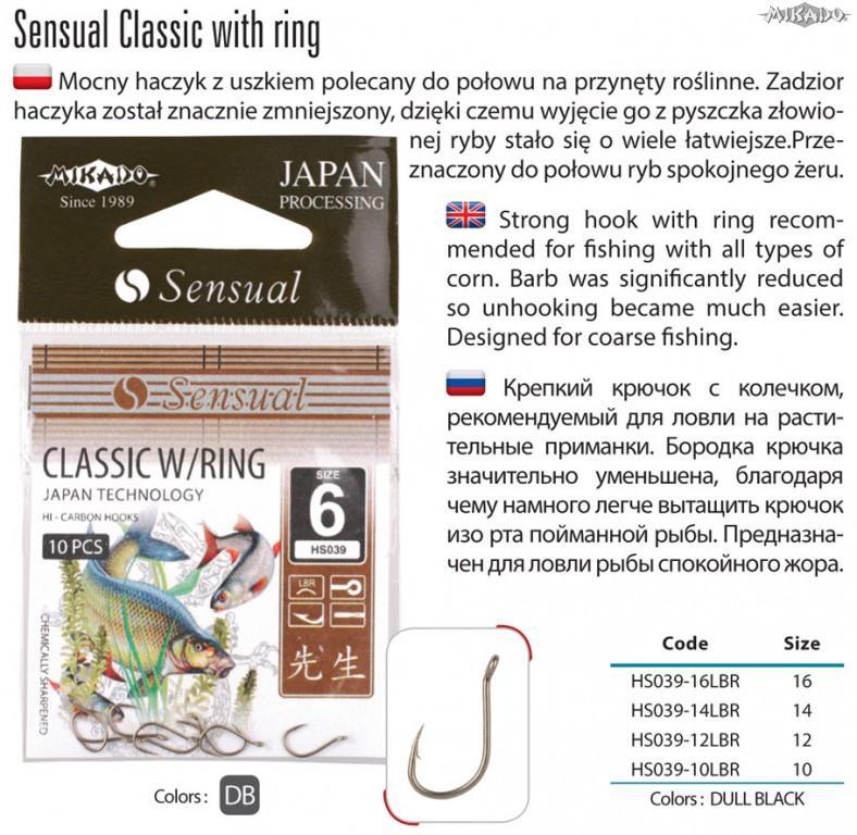 MIKADO Háčik SENSUAL-CLASSIC s očkom matná čierna (10ks)