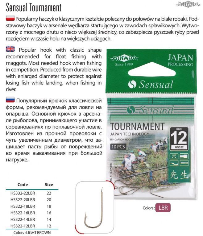 MIKADO Háčik s lopatkou SENSUAL TOURNAMENT s lopatkou (10ks)