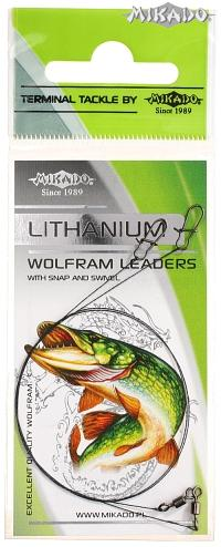 MIKADO Wolframové lanko s karabínou FS - 25cm/2.5kg (2ks)